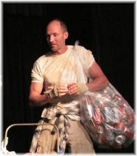 Chris LaPanta in Aluminium Foil