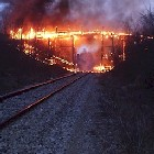 Stirling Street Bridge Set a Blaze  - copyright http://citizensofcaledonia.ca