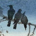 TAKAHASHI, Hiroaki (aka, Shotei) Crows on a Branch c1920's